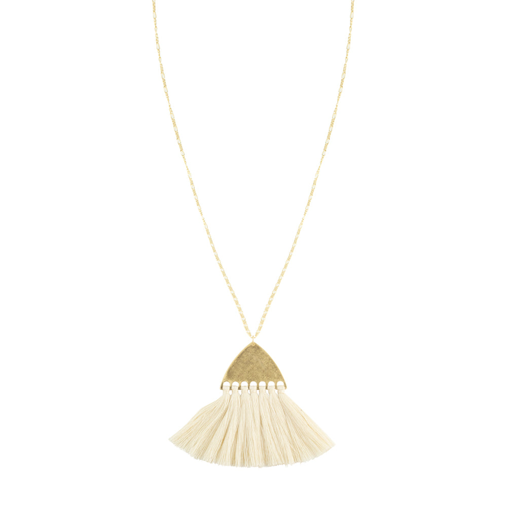 Juno Necklace by Mint and Moss in Cream