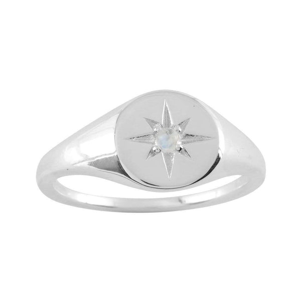 Light Moonstone Signet Ring