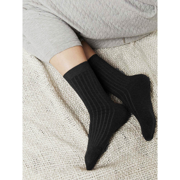 Rib Socks Black