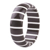 Nova Bangle - black with a white stripe