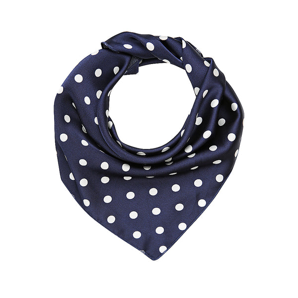 Blue and White Polka Dot Scarf by Mint and Moss