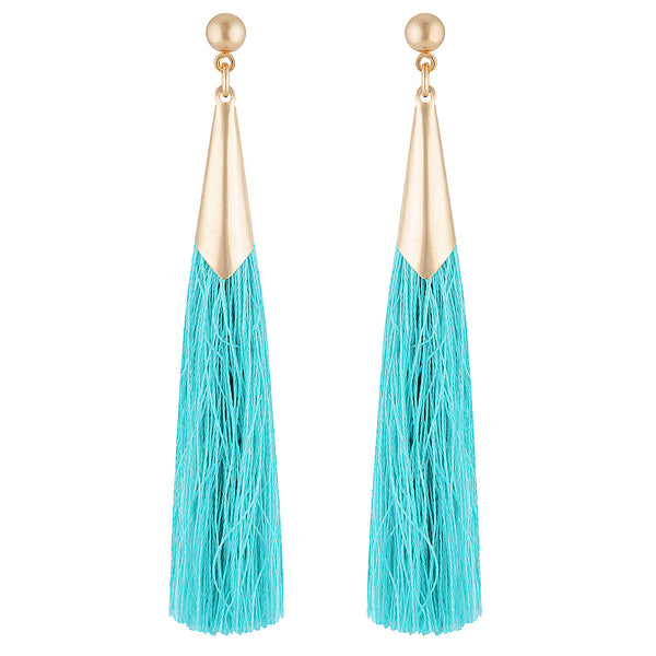 Seattle Earrings in Aqua by Mint & Moss