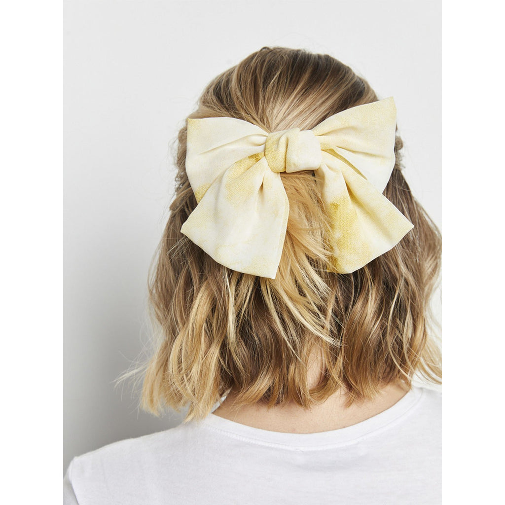 Tie Dye Bow Yellow
