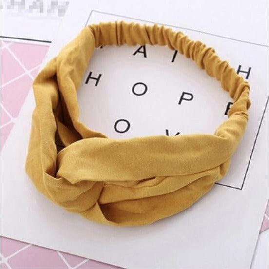 Soft Headband in Mustard