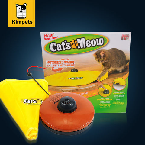 Nylon Fabric Moving Mouse Interactive Toy .