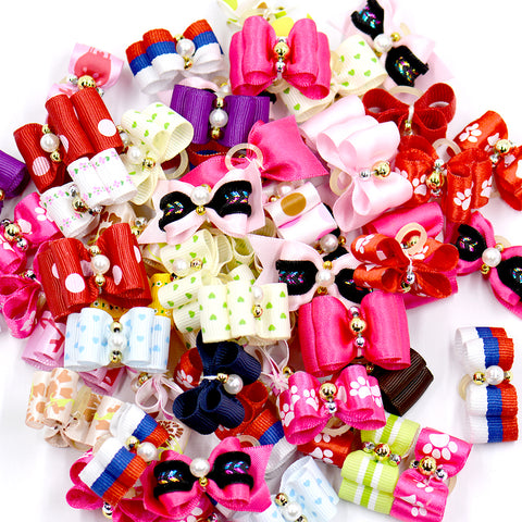 50pcs/lots hot sale cute dog accessories pet hair bows  cheap price different styles and colors supply