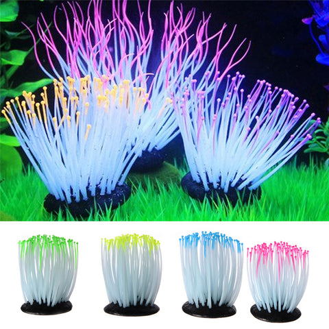 Luminous Sea Anemone fish tank Aquarium Plant Decoration