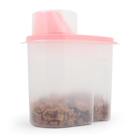1.9/2.5L Plastic Pet Dog Food Storage Container Dry Food Dispenser Puppy Dog Feeder