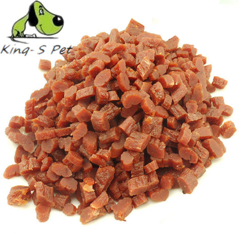 220g 100% Natural Dry Pet Dog Food Snack Chews Treats Training Beef Granules Twist Sticks For Small Medium Pet Classic Food