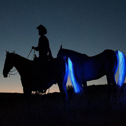 55cm/100cm LED Horse Riding Tails Decoration Luminous Tubes Horses Riding Equestrian Saddle Halters Horse Care Products
