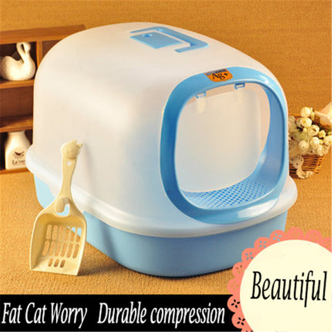 Closed Cat Litter Box Indoor Pet Toilet Traning Bandeja Grande Restroom Tray Kat Toilet For Cats Dogs Pet Potty Wc DDM2326