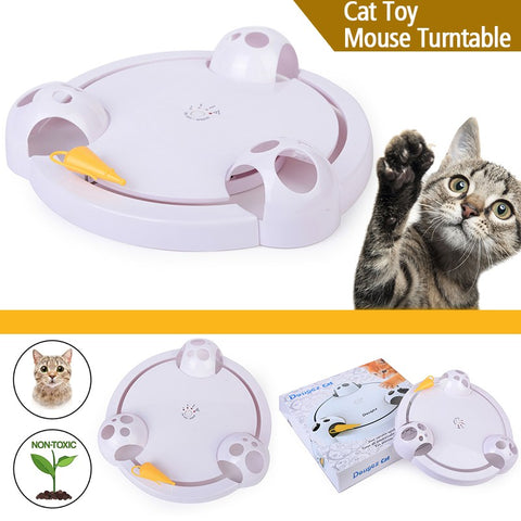 Moving Mouse Plastic Electric Cat Turntable Interactive Toys for Cats Kitten Training Playing Toys Cat Accessories Gifts Favor