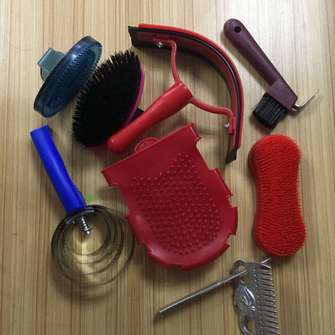 New Horse Riding Accessories Dusting Brush Head Dust Cleaning Tool Horse Grooming Kit Cleaning Set Saddlers Equestrian Equipment