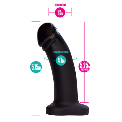 "Black Boxer+ Harness and 5"" Black Pearl Dildo (PACKAGE DEAL)"