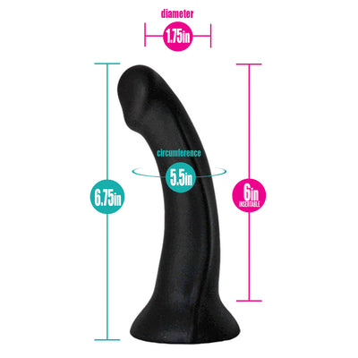 Black & Gray Brief+ Harness & Contour Dildo (PACKAGE DEAL)