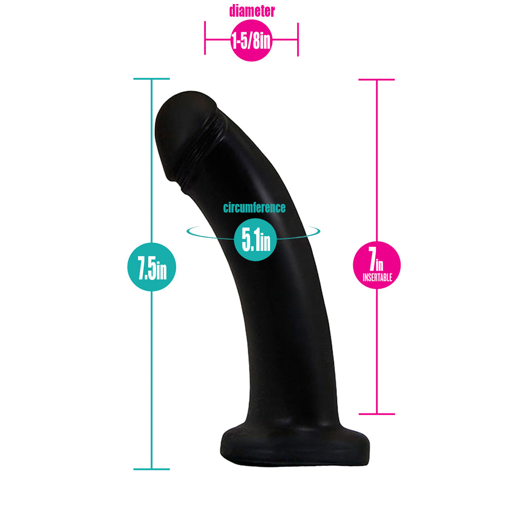"Black Boxer+ Harness and 7"" Black Pearl Dildo (PACKAGE DEAL)"