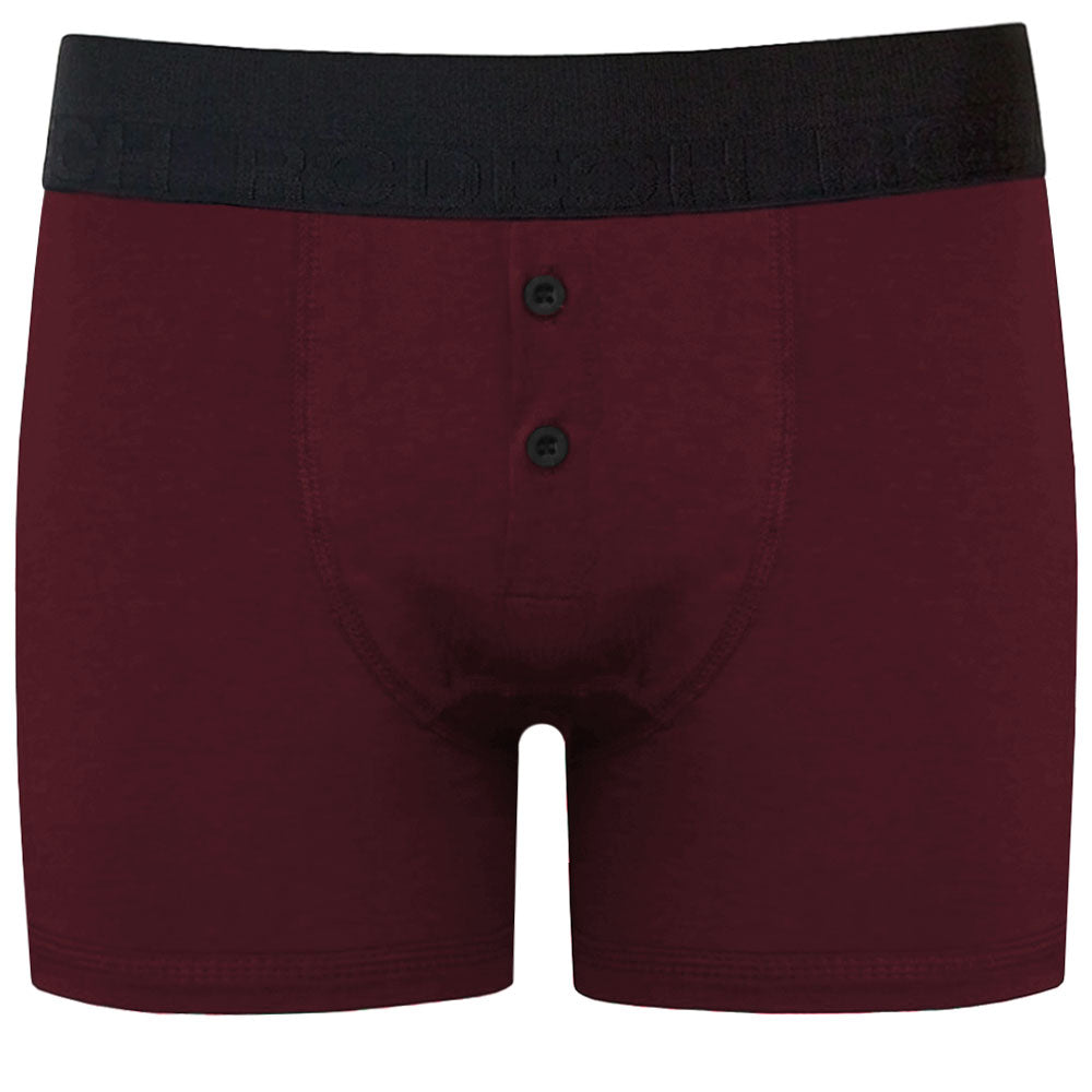 Button Fly Boxer Harness - Claret