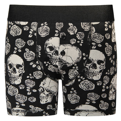 Button Fly Boxer Harness - Skulls