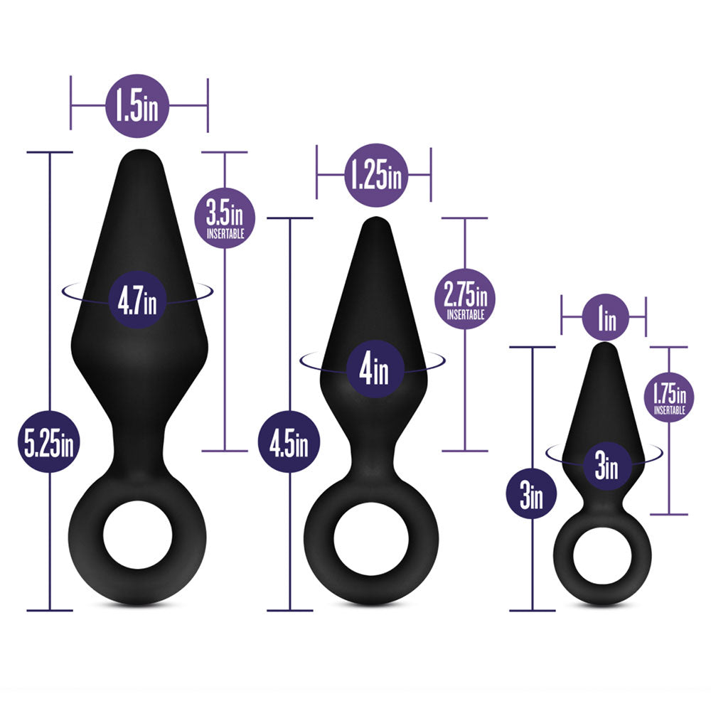 Luxe Night Rimmer Anal Plug Kit by Blush - Black