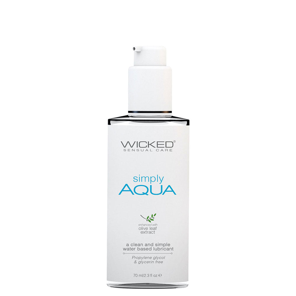 Simply Aqua Lubricant with Olive Leaf Extract 2.3 fl.oz. by Wicked Sensual Care