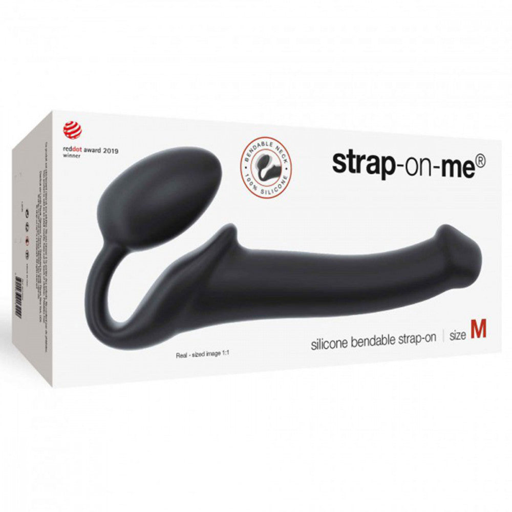 Strap-on-Me Double-Ended Dildo - Medium - Black