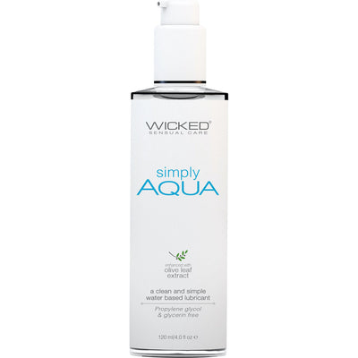 Simply Aqua Lubricant with Olive Leaf Extract 4.0 fl.oz. by Wicked Sensual Care