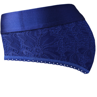 Royal Blue & Purple Crotchless Panty Harness