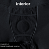 Rise Button Fly Boxer+ Harness - Black