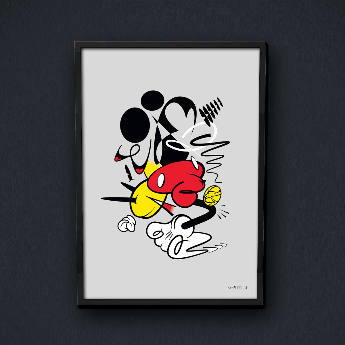 Abstract Mickey Print