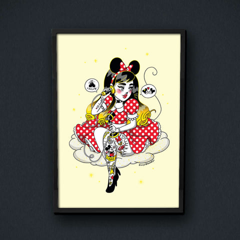 Dizzy Little Dotty - Dizzy Mickey Print