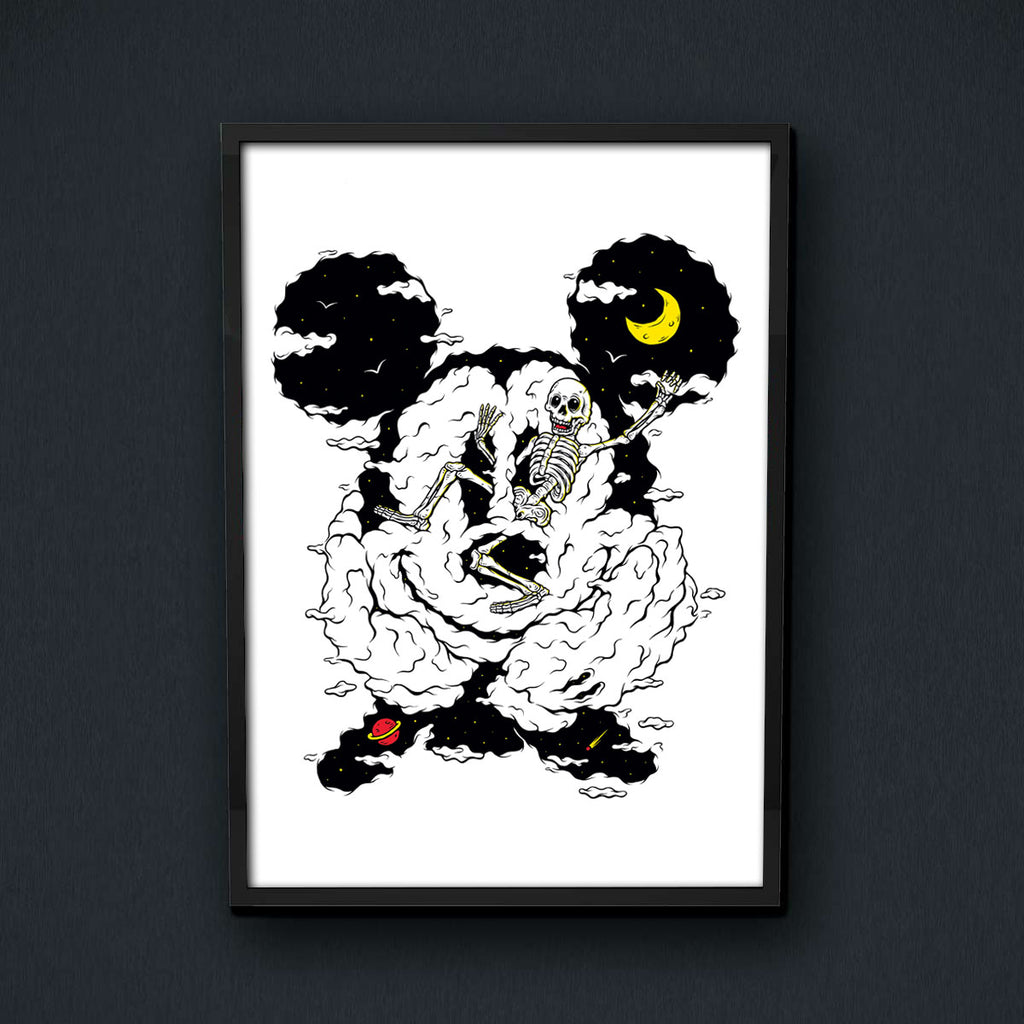 Skeleton Mickey Print