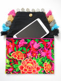 A-002 HANDCRAFTED PURSE/IPAD COVER/BOHO CLUTCH BAG HMONG EMBROIDERED