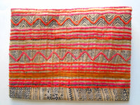 A-003 HANDCRAFTED PURSE/IPAD COVER/ CLUTCH BAG WITH VINTAGE HMONG EMBROIDERED