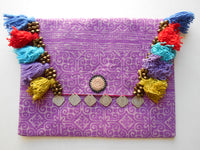 A-010 HANDCRAFTED PURSE/IPAD COVER/ CLUTCH BAG TRIBAL BATIK FABRIC