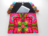 A-011 HANDCRAFTED PURSE/IPAD COVER/ CLUTCH BAG HMONG EMBROIDERED