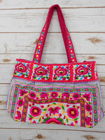 BM-001 NATURAL WORM HILL TRIBE TOTE SHOULDER BAG