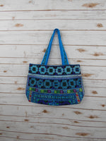 BM-007 DIAMOND HMONG EMBROIDERED HILL TRIBE TOTE SHOULDER BAG