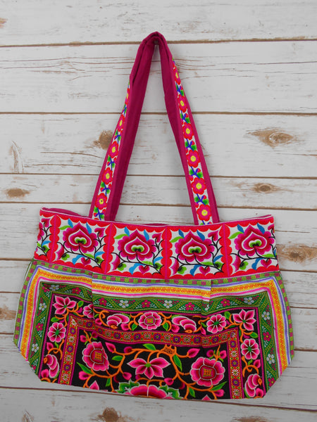 BM-008 NATURAL WORM HILL TRIBE TOTE SHOULDER BAG