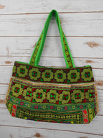 BM-009 DIAMOND HMONG EMBROIDERED HILL TRIBE TOTE SHOULDER BAG