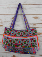 BM-010 DIAMOND HMONG EMBROIDERED HILL TRIBE TOTE SHOULDER BAG