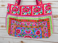 BM-012 NATURAL WORM HILL TRIBE TOTE SHOULDER BAG