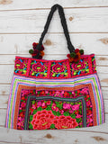 BC-002 ROSE GARDEN HILL TRIBE TOTE SHOULDER BAG (LARGE)