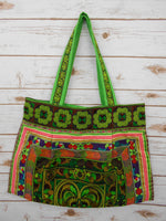 BL-006 GREEN HILL TRIBE TOTE SHOULDER BAG (LARGE)