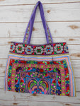 BL-008 HILL TRIBE TOTE SHOULDER BAG (LARGE)- MULTI COLOR