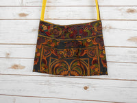 CA-001 MOCHA HMONG TRIBE EMBROIDERY CROSSBODY BAG