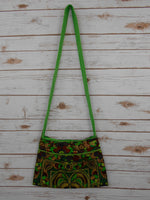 CA-002 GREEN HMONG TRIBE EMBROIDERY CROSSBODY BAG