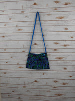CA-003 BLUE HMONG TRIBE EMBROIDERY CROSSBODY BAG