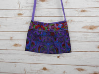 CA-004 PURPLE HMONG TRIBE EMBROIDERY CROSSBODY BAG