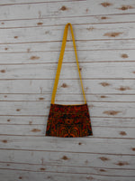CA-005 ORANGE HMONG TRIBE EMBROIDERY CROSSBODY BAG