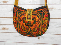 CB-002 ORANGE BIRD HILL TRIBE CROSSBODY BAG